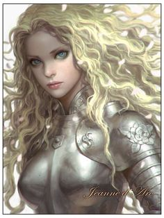 blonde warrior long hair woman fantasy beautiful