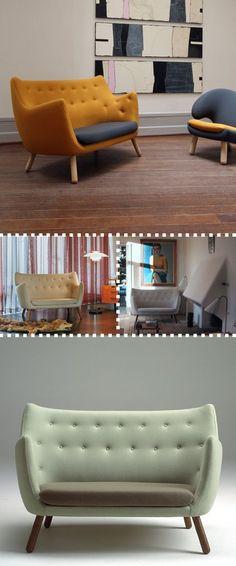 The Danish do it right. Poeten sofa by Finn Juhl.: