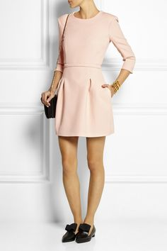 Maje|Wendal stretch-crepe mini dress|
