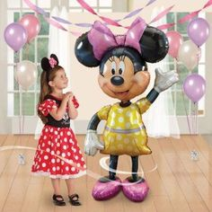"Disney Minnie AirWalker Jumbo Balloon NEW 54"" #Anagram #BirthdayChild"