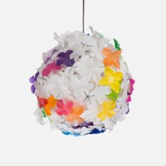 Another #upcycled #plastic #packaging Flower Ball light pendant by Heath Nash – White with Accents available on http://superbalist.com/