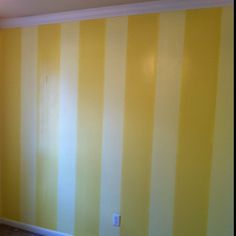 Vertical Stripes Painted On Accent Wall In The Spare Bedroom Just One White