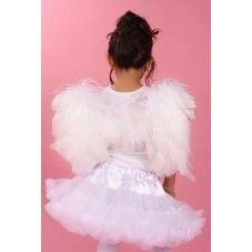 Frances needs some fluffy angel wings! Feather Angel Wings, Eid Dresses, White Feathers, Weekend Sale, My Princess, Cassie, Tulle, Pretty, Kids