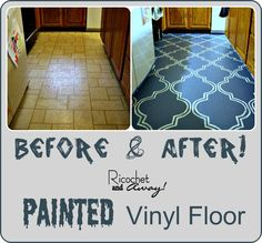 Don't like this stencil but might paint linoleum in bathroom.  Need the step by step