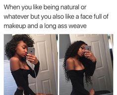 19 Black Girl Meme – Incredible Memes and Jokes Wig Styling, Funny Black Memes, Black Girl Memes, Hilarious Memes, Black Girl Problems, Curly Hair Styles, Natural Hair Styles, Black Girls Hairstyles, Girls Life