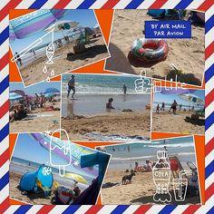 ¡¡Postal playera de un sábado veraniego cualquiera!! #ig #igers #igersguardamar #Guardamar #alicante #alacant #costablanca #MarMediterráneo #beach #playa #sea #mar ##verano2014 #verano #collage #Photogrid