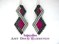 earring beading embroidery art deco - Google Search