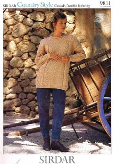 bf01d31c3c4 Sirdar 9811 ladies jumper vintage knitting pattern Listing in the Ladies DK
