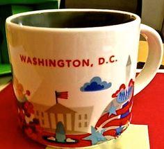 7240d2e951 Starbucks City Mug You Are Here - I want the ones to places I have already.  Starbucks City MugsUsa TripWater BottlesWashington DcCoffee ...