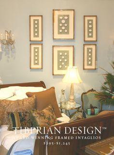Framed Intaglios Project No. 11 Top Intaglios (California Homes)