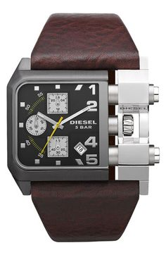 Hot brown and black #diesel #5bar #watch
