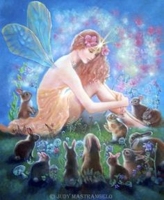 Fairy fairies fae rabbit 'fairy_story' fairytale Fairy and the Velveteen Rabbit ©Judy MastrangeloFairy and the velveteen Rabbit©