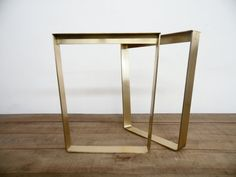 28 Trapezoid Flat Brass Metal Table Legs 24 Base by Balasagun