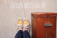 Sincerely, Kinsey: Chevron Moccasins DIY