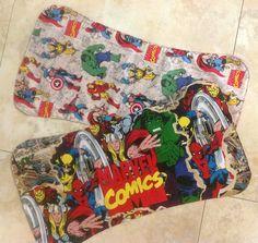 Marvel burp cloths!!!! I loved making these!!!!