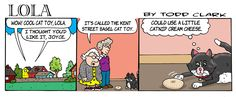If only Lola had some catnip cream cheese! Click through to get the free knit and crochet patterns that inspired the comic!
