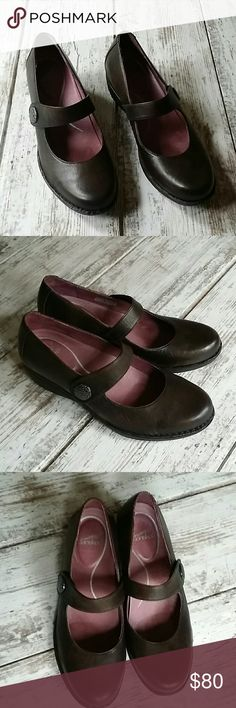 """Size 41  Dansko Mary Jane shoes * velcro straps with hammered metal adornment   *leather upper and lining  *man made textured outsole  *just shy of a 2"""" heel  *Dansko is well known for their comfort and durability!   *excellent condition!   *sorry, no trades Dansko Shoes"""