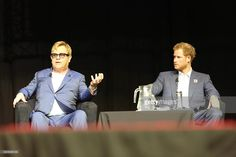 Elton John and Prince Harry on a panel of discussion during the International Aids Conference on July 21, 2016 in Durban, South Africa. During the International Aids Conference held in South Africa, Prince Harry and John, took to the stage to call for strengthened efforts in the fight against Aids.