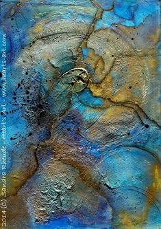 Texture Art, Texture Painting, Blue Abstract, Abstract Wall Art, Crackle Painting, Collage Techniques, Modern Art Paintings, Encaustic Art, Art N Craft
