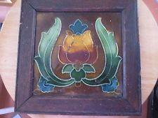Ceramic Art Nouveau antique tile