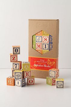 Fancy Schmancy Alphabet Blocks, I'd use these as decor once my kids were done with them.