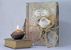 Rustic French Barn Guest Book Fairytale Wedding by LotusBluBookArt, £125.00