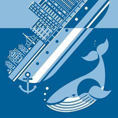 By @llairddesign -  Sinking - Print Design (blue) . Tag #designarf to featured! . #print #printdesign #vectorart #illustration #adobe  #design #designer ##adobeillustrator #art #graphicdesign #dribbble #digitaldraw #ai #artwork #whale #vector #picoftheday #instagood by designarf