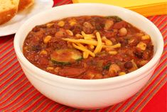 Chili Recipe Iron-Rich Vegetarian Chili - High iron content for skin and hair care in this vegetarian chili recipe.Iron-Rich Vegetarian Chili - High iron content for skin and hair care in this vegetarian chili recipe. Chili Recipes, Veggie Recipes, Slow Cooker Recipes, Great Recipes, Cooking Recipes, Vegetarian Types, Vegetarian Chili, Vegetarian Recipes, Healthy Recipes