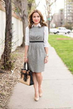 Shirt Under Dress Outfit by helloframboise, via Flickr