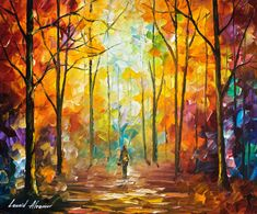Three video lessons of Leonid Afremov painting in download form