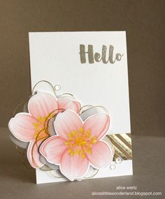 Golden Hello Card from the Alice's {Little} Wonderland blog. #EssentialsbyEllen #MondoMagnolia #ellenhutsonllc