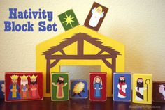 DIY Nativity Blocks ~ Mom's Crafty Space
