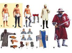 MI PARAISO ESCONDIDO: Vestimenta de soldados medievales.