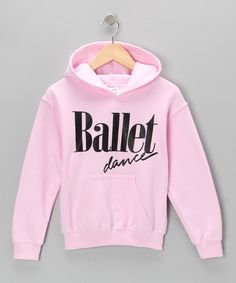 Take a look at this Pink Ballet Dance Hoodie - Girls by Dancewearables on #zulily today!