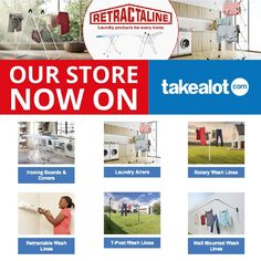 Retractaline available to buy online in South Africa. Fast, reliable delivery to your door. Safe, secure, online shopping for all you laundry needs. Wall Mounted Washing Line, Iron Board, South Africa, How To Find Out, Laundry, Space Saving, Outdoor Range, Ironing Boards, Link