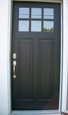 decoration inspiring black wood entry doors with glass lites in square grid panel and schlage exterior