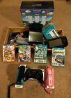 Black Nintendo Wii U 32 GB Deluxe Set Lot Bundled w/extra games & controllers!