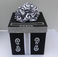 Items similar to Wedding Card Box Black and White Bling Mesh Wrap on Etsy – The Best Ideas Money Box Wedding, Card Box Wedding, Wedding Party Favors, Daisy Wedding, Trendy Wedding, Fendi, Biscuit, Gift Card Boxes, Gift Cards