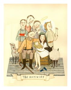 The Nativity, pixie illustration