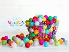 Hey, I found this really awesome Etsy listing at https://www.etsy.com/listing/222318040/25cm-wool-felt-balls-rainbow-pack-100