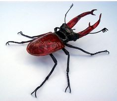 Giant Stag Beetle Copper Sculpture by metalbymartin on Etsy, $475.00