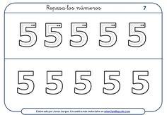 Fichas con actividades para escribir números para niños, dedicadas al cuatro, cinco y seis. Las fichas son gratuitas y se pueden descargar e imprimir.