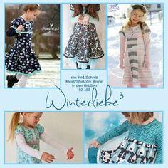 Winterliebe³ Anleitung und Schnitt für ein Kleid/shirt - Nähanleitungen bei Makerist