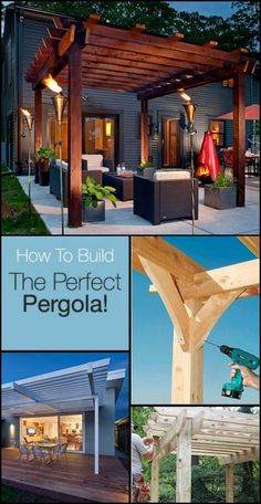 How To Build Your Own Backyard Pergola  http://theownerbuildernetwork.co/rvm2  Here's a project to add to your patio or deck!  Would you like to add one of these to your outdoor space?