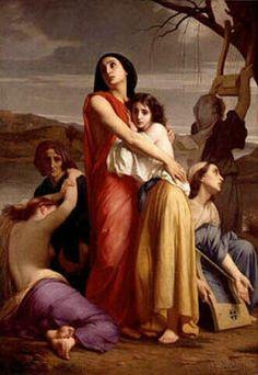 Charles Zacharie Landelle (1812-1908)  Les Femmes de Jérusalem captives à Babylone  Oil on canvas