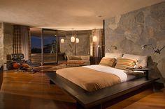 Wolff House, John Lautner. The master bedroom.