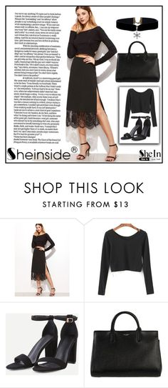 """SheIn #10/9"" by s-o-polyvore ❤ liked on Polyvore featuring WithChic and Yves Saint Laurent"