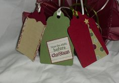 Christmas Gift Tag Set of 3 by ThisandThatCrafter on Etsy