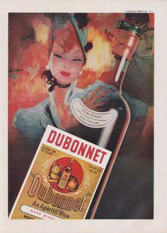 Items similar to Dubonnet Aperitif Wine Ad Colorful Illustrated Vintage Liquor Advertising Print, Bar Wall Art Decor on Etsy Vintage Wine, Vintage Ads, Vintage Posters, Wein Poster, Jean Gabriel Domergue, Parks, Vintage Cocktails, Champagne Bar, Wine Signs