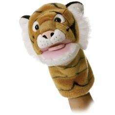 """Aurora Plush Tiggy Tiger Puppet - 10"""" -- Want to know more, click on the image. (This is an affiliate link) #Puppets"""